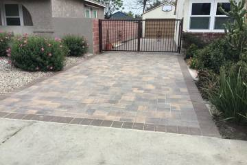 Backyard And Driveway Pavers Job In Northridge Nrg