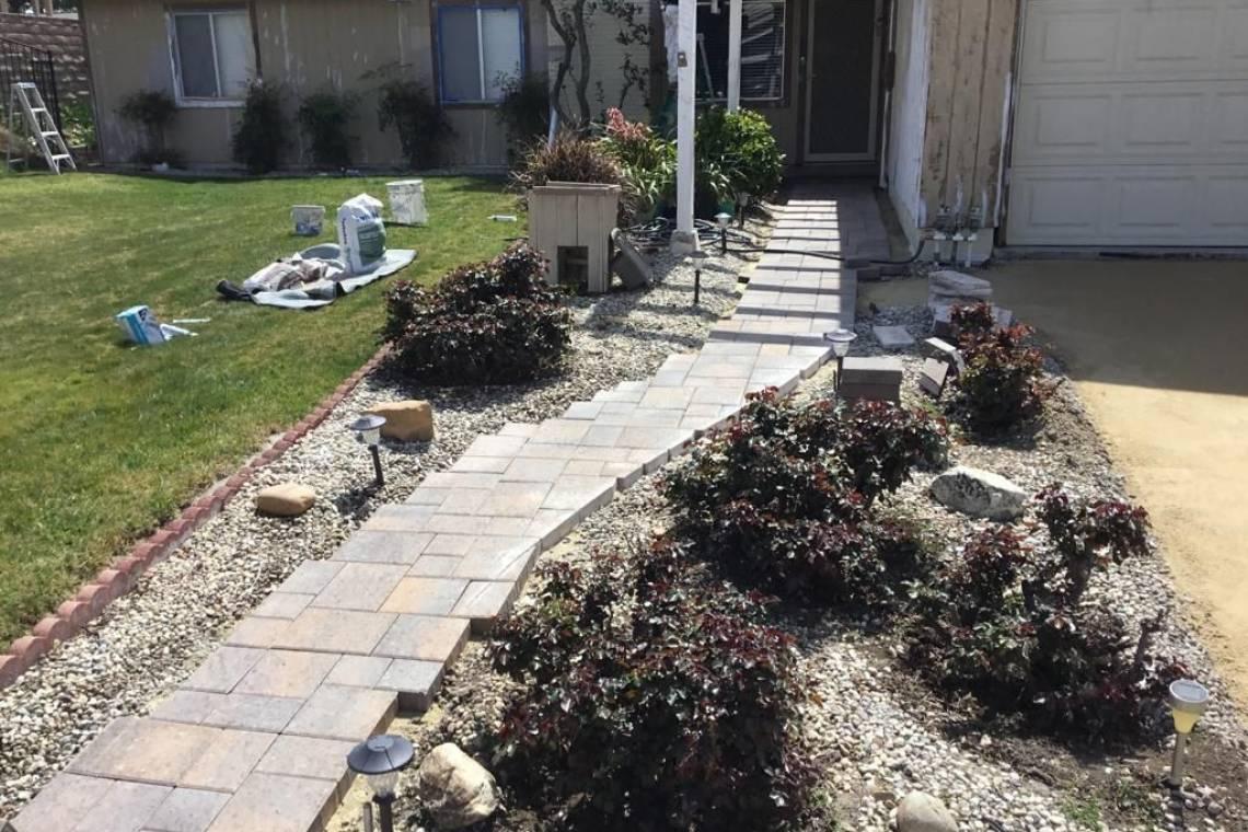 Pavers Walkway Nrg Builders Los Angeles Home Improvement