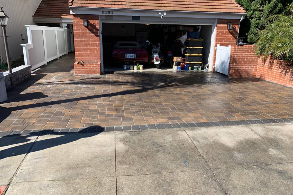 Driveway Makeover In Oxnard Ca Nrg Builders Los